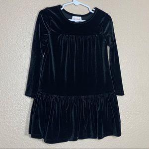 Cat & Jack toddler girl black velvet dress